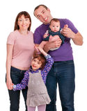 Beautiful happy family. Father, mother and children Royalty Free Stock Photos