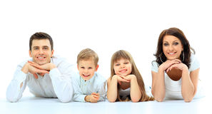 Beautiful happy family Stock Photography