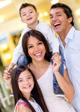 Family at the shopping center Stock Image