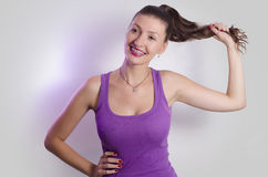Beautiful happy girl with braces Royalty Free Stock Photo