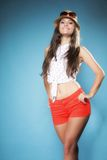 Beautiful happy girl in summer clothes Stock Photography