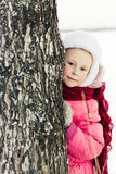 Beautiful happy girl winter outdoors. Royalty Free Stock Photos