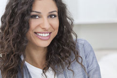 Beautiful Happy Hispanic Woman Smiling Stock Photo