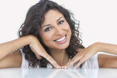 Beautiful Happy Hispanic Woman Smiling Royalty Free Stock Images