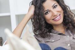 Beautiful Happy Hispanic Woman Smiling Royalty Free Stock Photos