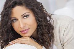 Beautiful Happy Hispanic Woman Smiling Stock Photo