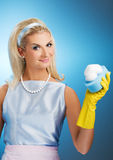 Beautiful happy housewife Stock Photo