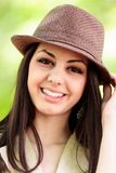 Beautiful happy latin girl outdoor Royalty Free Stock Photography