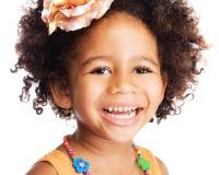 Beautiful happy little girl. Portrait of beautiful happy little girl Stock Image
