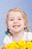 Beautiful happy little girl Royalty Free Stock Images