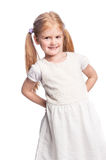 Beautiful Happy Little Girl with Pony Tail Hair. Stock Photos