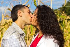 Beautiful happy love couple kissing Royalty Free Stock Images