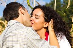 Beautiful happy love couple kissing Royalty Free Stock Photos