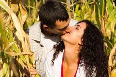 Beautiful happy love couple kissing Stock Photos