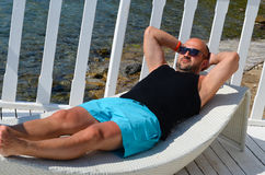 Beautiful happy  man Stock Photography
