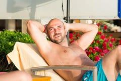 Beautiful happy  man Stock Images