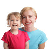 Beautiful and happy mother with daughter Royalty Free Stock Photo