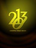 Beautiful happy new year 2013 design. Stock Photography