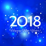 Beautiful  Happy New Year 2018 background. Beautiful Christmas background with bright highlights, and the words Happy New Year 2018 Royalty Free Stock Photos