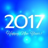 Beautiful  Happy New Year 2017 background. Beautiful Christmas background with bright highlights, and the words Happy New Year 2017 Royalty Free Stock Photo