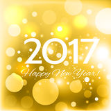 Beautiful  Happy New Year 2017 background Stock Images