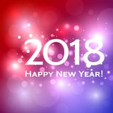 Beautiful  Happy New Year 2018 background Stock Photos