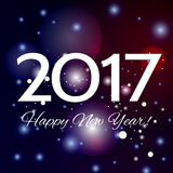 Beautiful Happy New Year 2017 background. Beautiful pink Christmas background with a bright flash of light and the words Happy New Year 2017 royalty free illustration