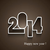 Beautiful 2014 Happy new year. Holidays background Royalty Free Illustration