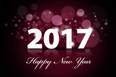 Beautiful Happy New Year 2017 illustration. Happy new year 2017 from colorful sparkle on black and purple background