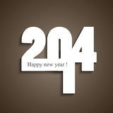 Beautiful happy new year stylish 2014 fantastic. Colorful Vector Illustration