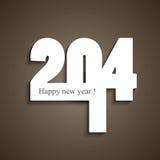 Beautiful happy new year stylish 2014 fantastic Stock Photography
