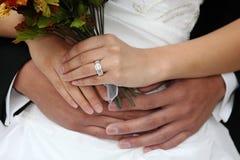 Beautiful Happy Newlywed Couple Stock Photography