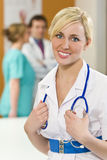 Beautiful Happy Nurse Stock Photo