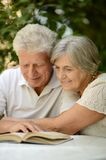 Beautiful happy old couple Stock Photography