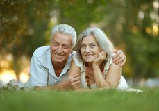 Beautiful happy old Stock Image