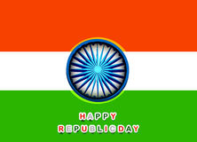 Beautiful Happy republic day indian flag tricolor. Background Royalty Free Stock Photography