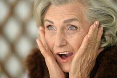 Beautiful happy senior woman, close up Royalty Free Stock Photo