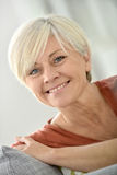 Beautiful happy senior woman smiling Royalty Free Stock Photography