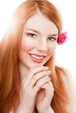 Beautiful happy smiling girl with clear make-up Royalty Free Stock Photography