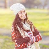 Beautiful Happy Smiling Girl Outdoor Royalty Free Stock Images