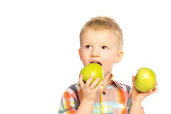 Child eating healthy food Royalty Free Stock Photos