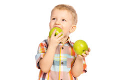 Child eating healthy food Royalty Free Stock Photo