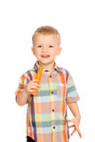 Child eating healthy food Stock Photography