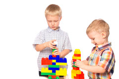 Children builds constructor Royalty Free Stock Image