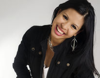 beautiful happy smiling woman young Arkivfoton