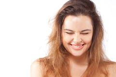 Beautiful happy smiling young woman Royalty Free Stock Photos