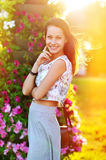 Beautiful happy smiling young woman Stock Images