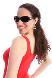 Beautiful happy smiling young woman in sunglasses Royalty Free Stock Photo