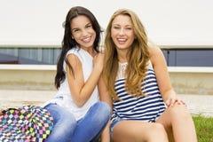 Beautiful and happy students Stock Photo