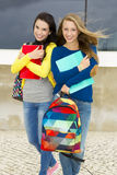 Beautiful and happy students Stock Photography
